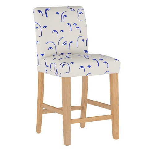 Counter Stool Faces Klein Blue - Cloth & Company - image 1 of 4