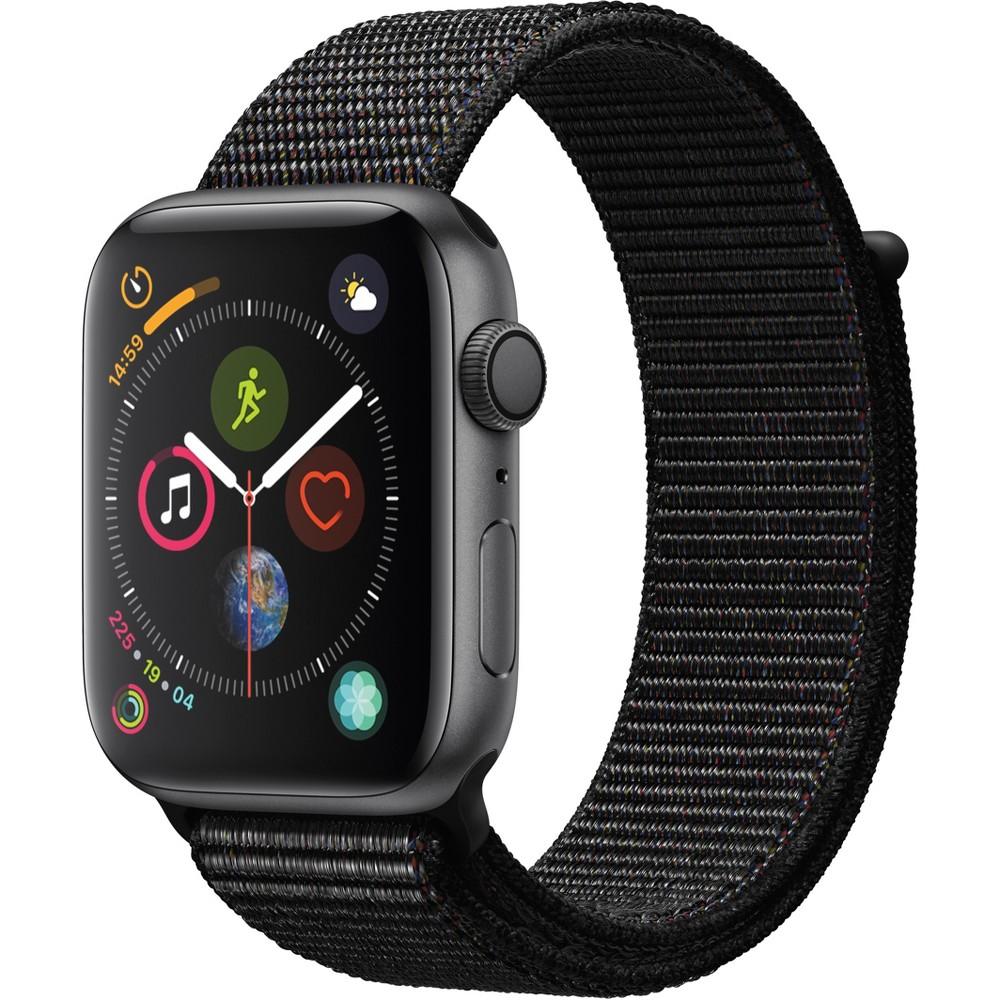 Apple Watch Series 4 Gps 44mm Space Gray Aluminum Case with Sport Loop - Black, Black Sport Loop
