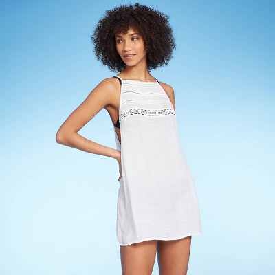 Juniors' Crochet Top Cover Up Dress - Xhilaration™ White