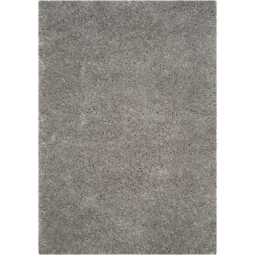 Solid Loomed Area Rug Light Gray
