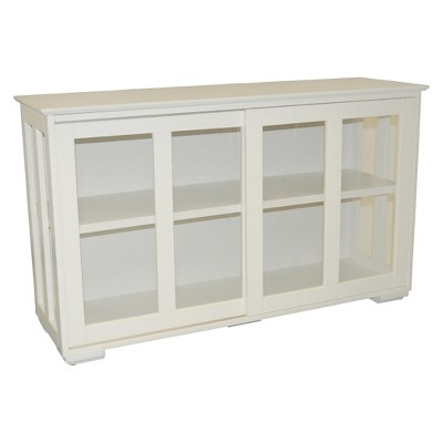Merveilleux Pacific Stackable Sliding Glass Doors Cabinet Antique White   TMS