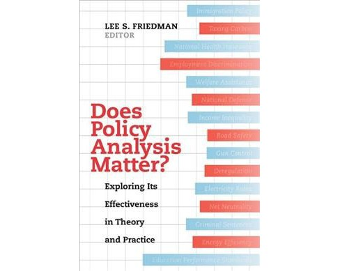 Does Policy Analysis Matter? : Exploring Its Effectiveness in Theory and Practice (Paperback) (Lee S. - image 1 of 1