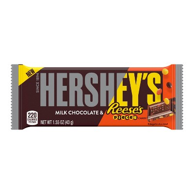 Hershey's Milk Chocolate With Reese's Pieces Mashup Candy Bar - 1.55oz