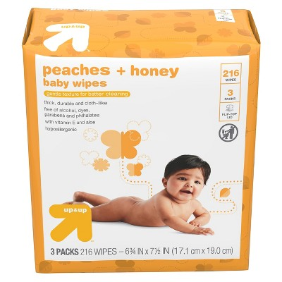 Baby Wipes Peaches & Honey - 216ct - Up&Up™