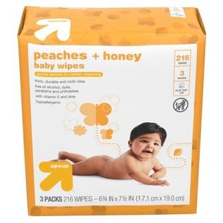 Baby Wipes Peaches & Honey - 216ct - Up&Up™