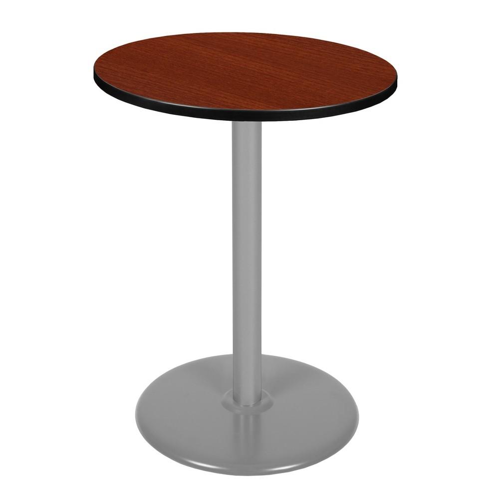 "Image of ""30"""" Via Cafe High Round Platter Base Table Cherry/Gray - Regency"""