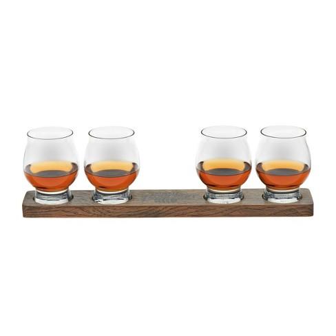 Libbey Signature Kentucky Bourbon Trail Whiskey Tasting Glasses 8oz with Wood Paddle - 5pc Set - image 1 of 4