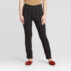 Women's Plaid High-Rise Skinny Ankle Length Pants - A New Day™