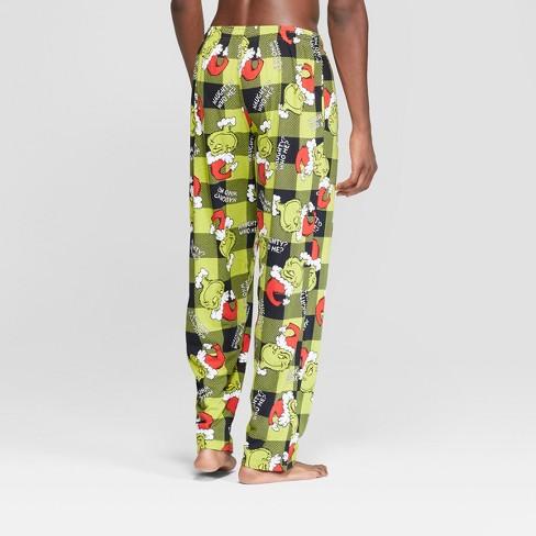 eeb7492ea490 Men s Dr. Suess Grinch Knit Pajama Pants - Green   Target