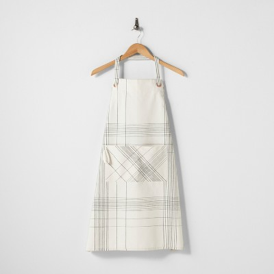 Flour Sack Apron Plaid Ebony - Hearth & Hand™ with Magnolia