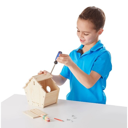 Melissa & Doug Build-Your-Own Wooden Birdhouse Craft Kit image number null