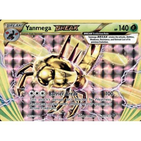 Pokemon X and Y Steam Siege Rare Holo BREAK Yanmega BREAK #8 - image 1 of 1