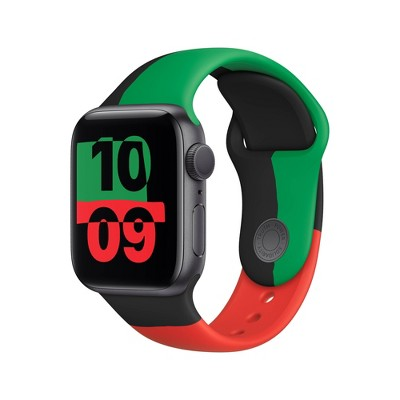 Apple Watch Series 6 GPS, Black Unity Aluminum Case with Black Unity Sport Band