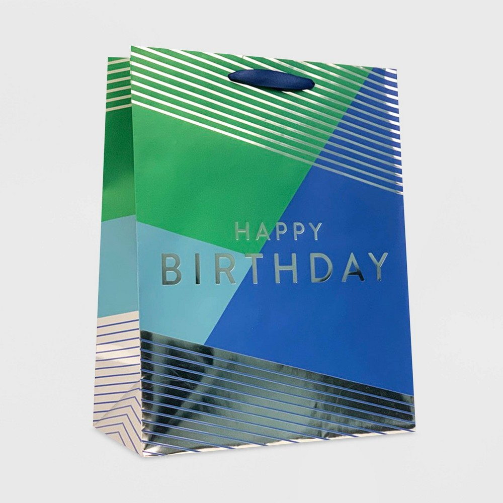 34 Happy Birthday 34 Medium Bag Green Blue Spritz 8482