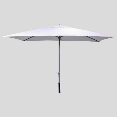 6 5' x 10' Rectangular Patio Umbrella Glacier – Ash Pole – Project