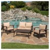 Honolulu Outdoor 4pc Wicker Seating Set and Cushions - Christopher Knight Home - image 4 of 4