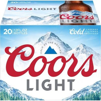 Coors Light Beer - 20pk/12 fl oz Bottles