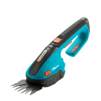 Gardena 3 Inch Cordless Lithium Ion Rechargeable ClassicCut Grass Shears, Blue