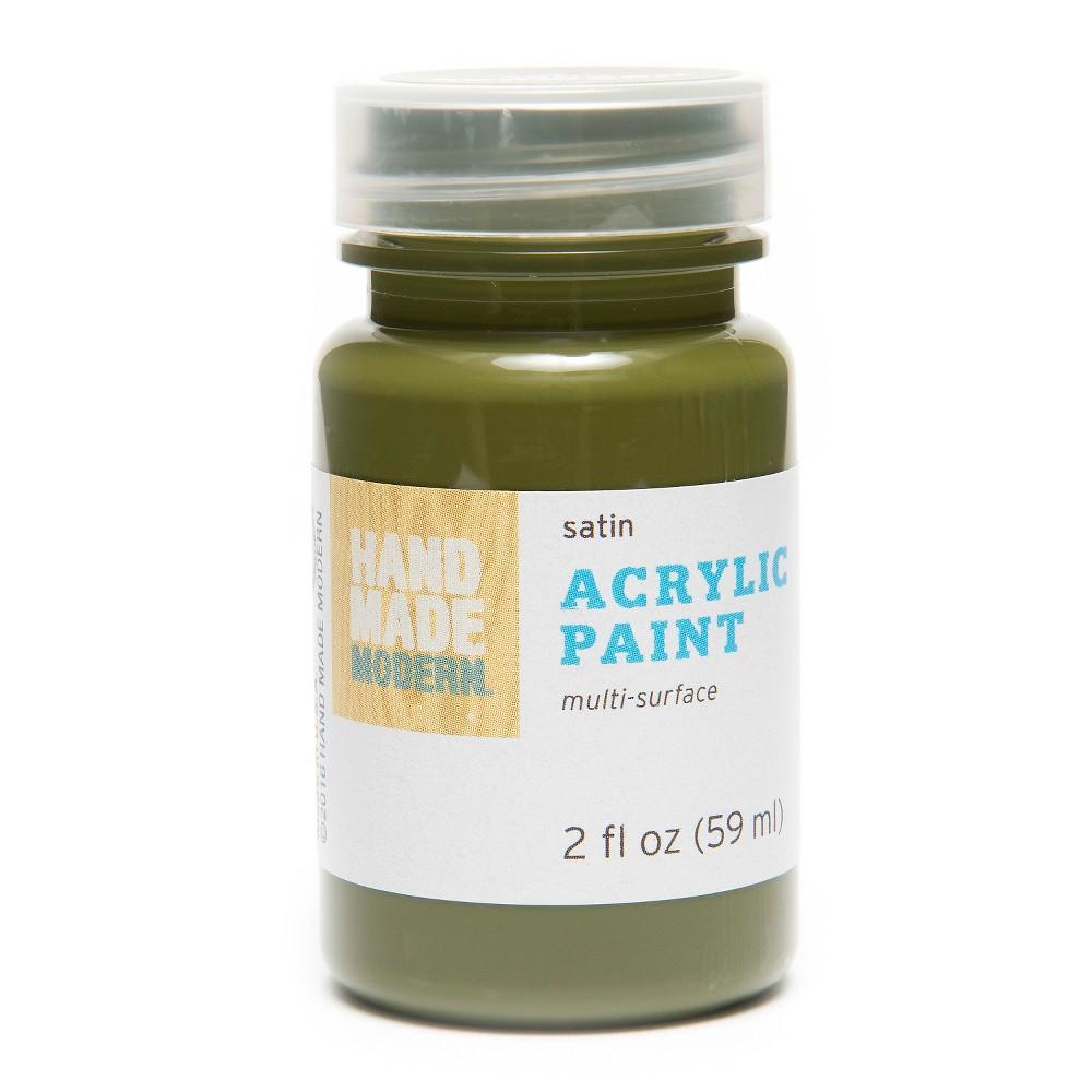 Image of 2oz Satin Acrylic Paint - Seaweed Hand Made Modern