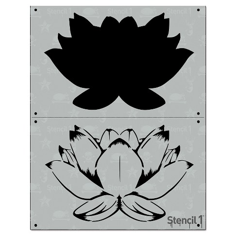"Stencil1® Lotus - Layered Stencil 8.5"" x 11"" - image 1 of 3"