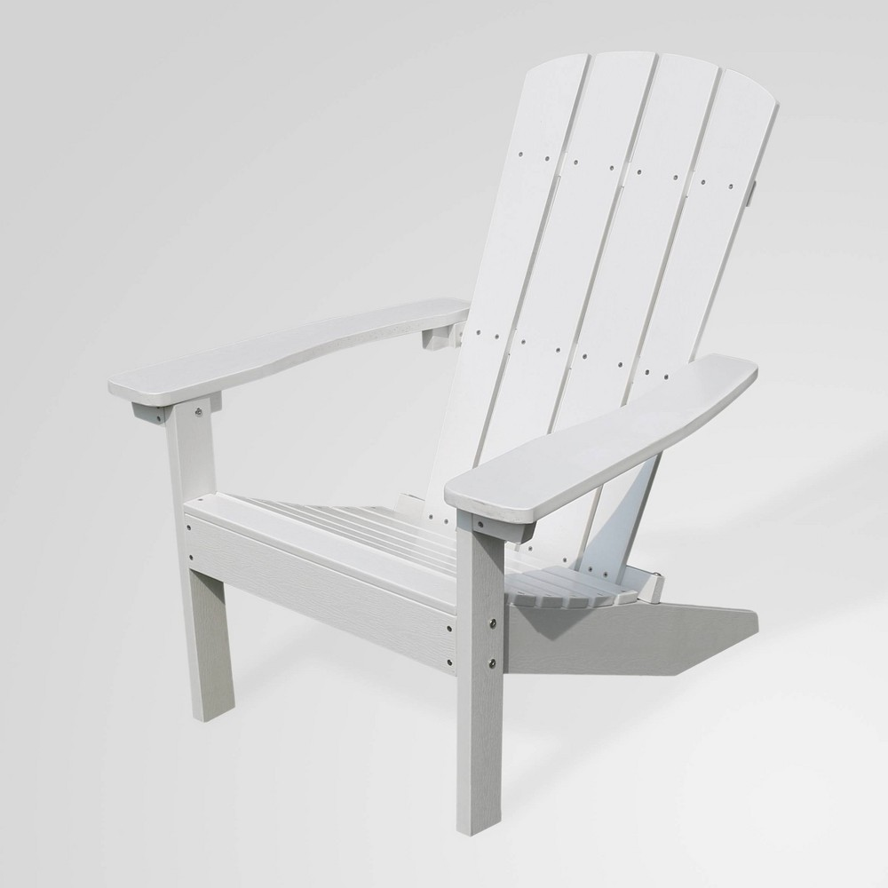 Image of Lakeside Faux Wood Adirondack Outdoor Portable Chair White - Merry Products