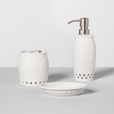 Solid Mallorca Porcelain Bath Collection - Threshold™