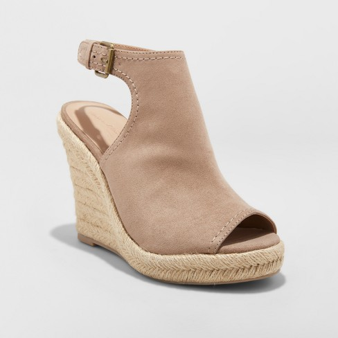 232515c40d Women's Mala Shield Espadrille Wedge Sandals - Universal Thread™ Taupe 12 :  Target