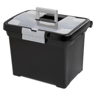 Sterilite Medium Letter File Box Black