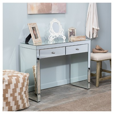 Roxie Mirrored Console Table Silver   Christopher Knight Home : Target