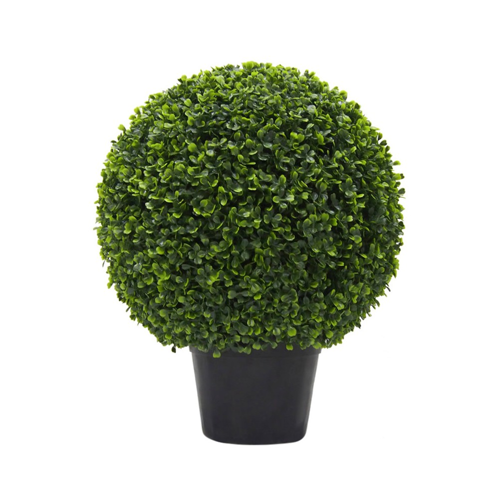 Image of Artificial Boxwood Ball In Pot UV (20in) Green - Vickerman