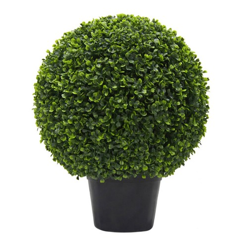 Artificial Boxwood Ball In Pot UV (20in) Green - Vickerman® - image 1 of 5