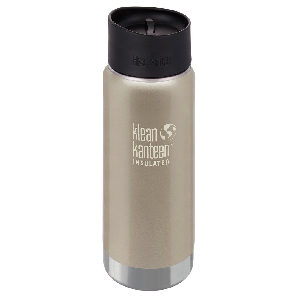 Klean Kanteen 16oz Insulated Stainless Steel Wide Mouth Tumbler - Champagne, Beige