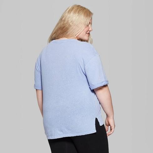 c7b978d4de8 Women s Plus Size Short Sleeve Crewneck Oversized T-Shirt - Wild Fable™  Purple   Target