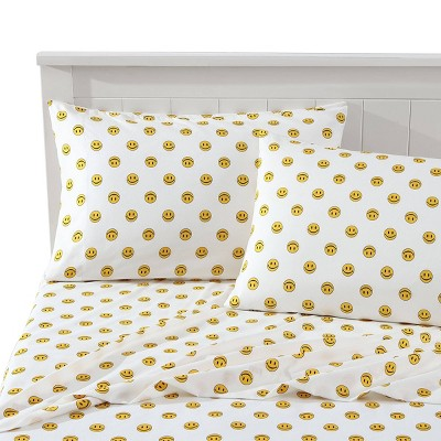 Happy Face Novelty Printed Sheet Set - Joe Boxer