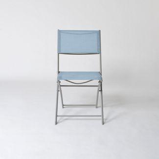 Folding Patio Bistro Chair Blue - Threshold™