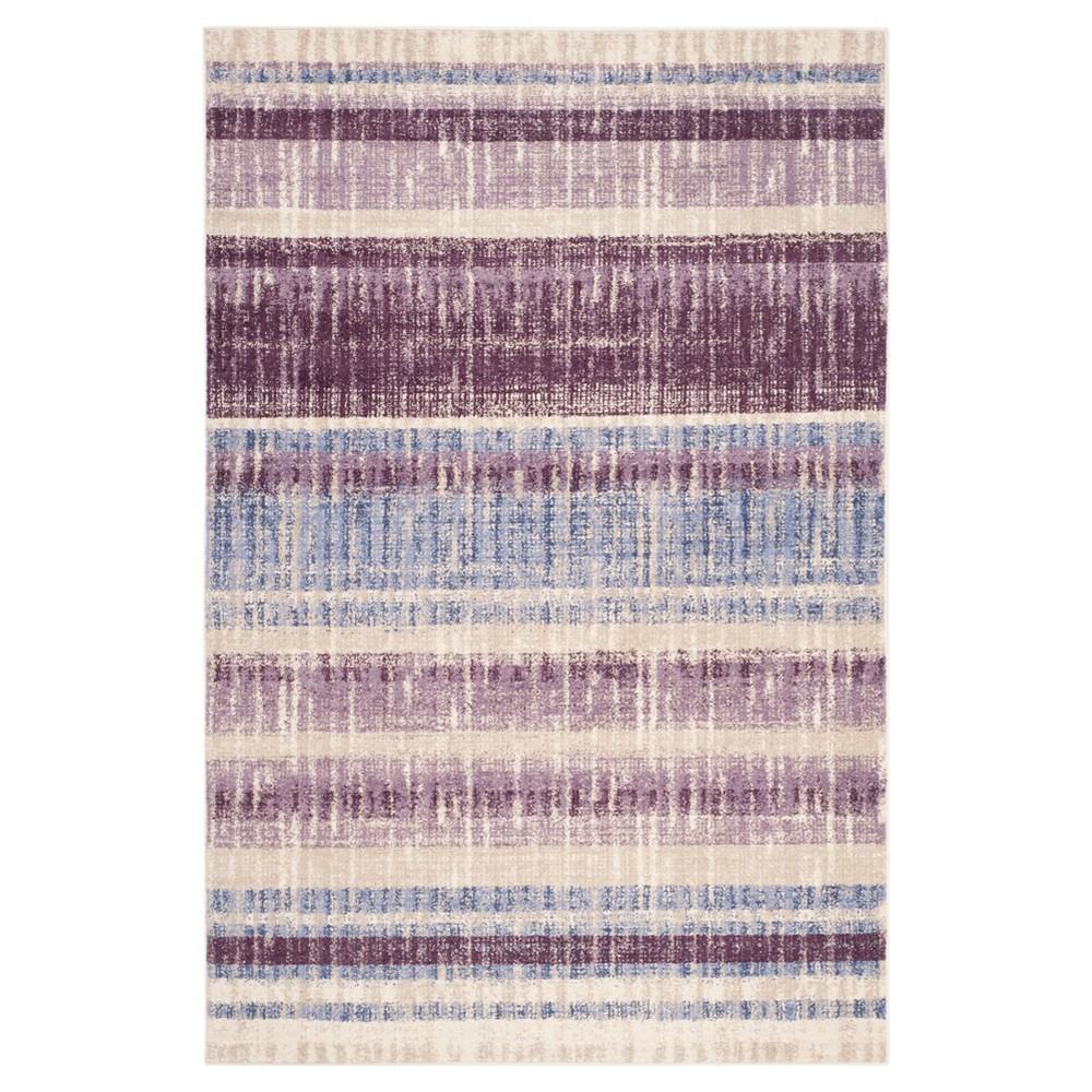 Tinsley Area Rug - Cream / Purple ( 4' X 6' ) - Safavieh, Ivory/Purple