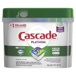 Cascade Platinum ActionPacs Fresh Scent Dishwasher Detergent