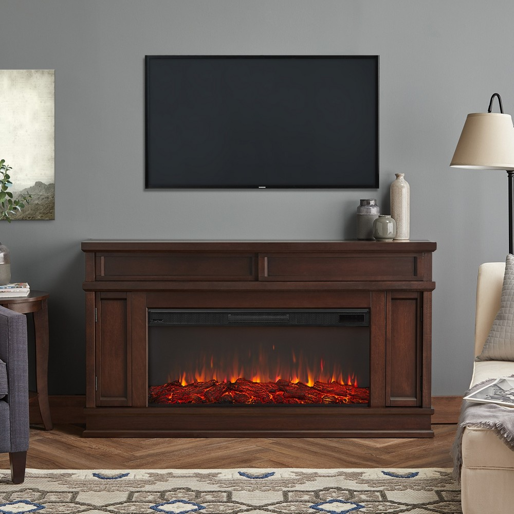 Torrey Electric Decorative Fireplace Dark Walnut - Real Flame