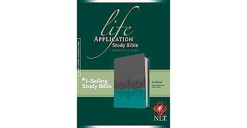 Life Application Study Bible : New Living Translation, Juniper / Gray Lace TuTone, Leatherlike, Personal - image 1 of 1
