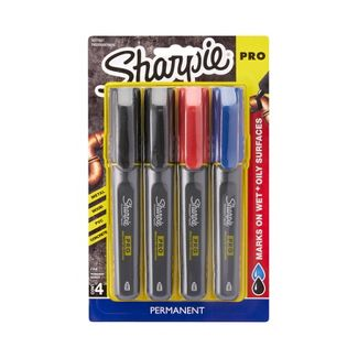 Sharpie 4pk Pro Permanent Markers Black/Red/Blue