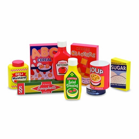 Melissa & Doug Wooden Pantry Products Play Food Set (9pc) - image 1 of 3