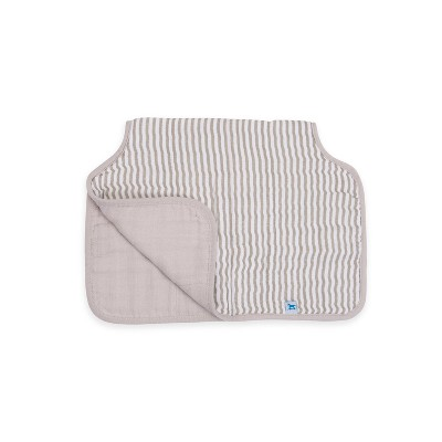 Little Unicorn Cotton Muslin Burp Cloth - Grey Stripe