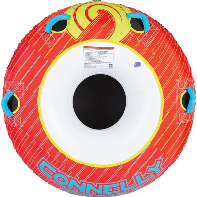 CWB Connelly Spin Cycle 54 Inch Classic Donut 1 Person Inflatable Boat Towable Water Inner Tubing Tube, Red