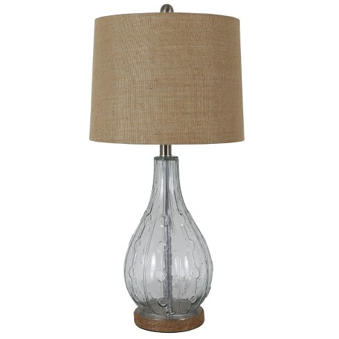 Emma Embossed Glass Table Lamp - Decor Therapy - image 1 of 4