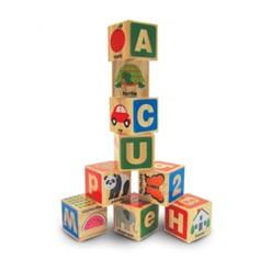 Melissa & Doug ABC/123 Wooden Blocks (26pc)