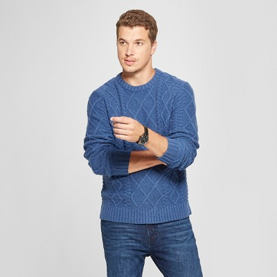 Men's Long Sleeve Cable Crew Pullover Sweater   Goodfellow &Amp; Co™ by Goodfellow & Co