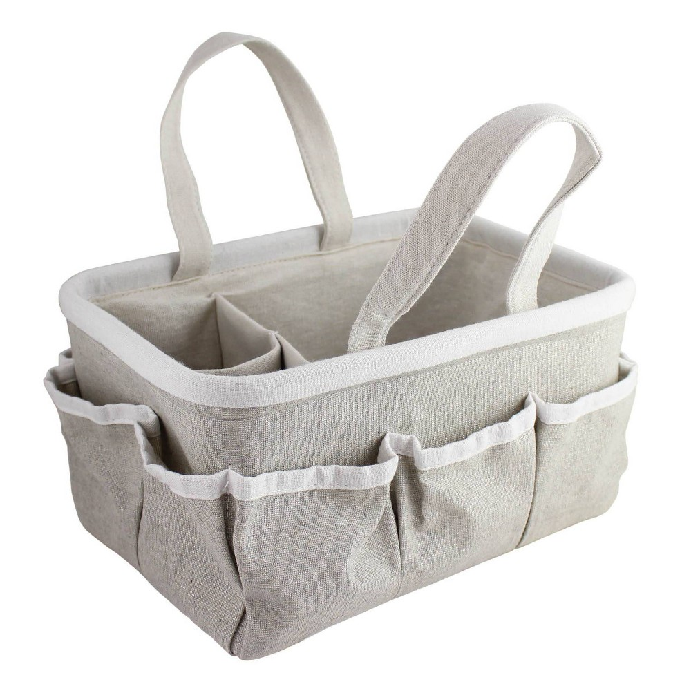 Image of Beriwinkle Linen Diaper Caddy - Gray Sparkle