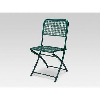 Metal Punch Bistro Chair Dark Green - Threshold™