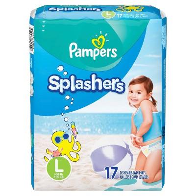 Pampers Splashers Disposable Swim Pants - Size L (17ct)