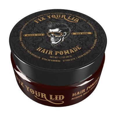 Fix Your Lid Medium Hold High Shine Hair Pomade - Trial Size - 1.7oz